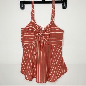 Maurices Flowy Striped Tank Top bow in front Small